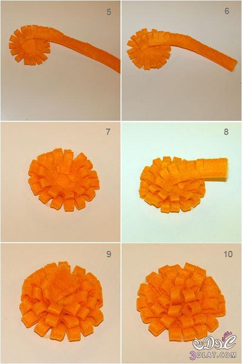 طريقة عمل وردة من قماش الجوخ ، طريقة سهلة وبسيطة ، طريقة عمل وردة من قماش الجوخ