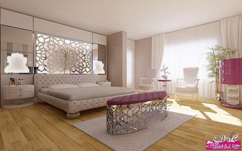 ديكورات غرف نوم مودرن 2018,صور تصميمات غرف نوم راقية,غرف نوم واسعة