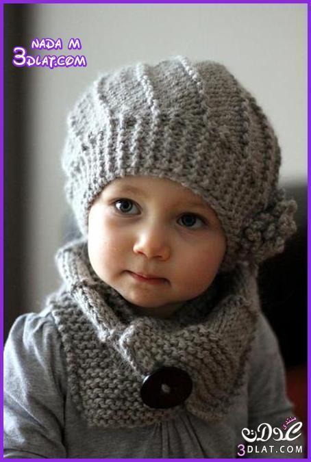 aecb33d85e9d2 قبعات من الكروشية للاطفال كاب ملونه من الكروشية تشكيلة منوعة للاطفال ...