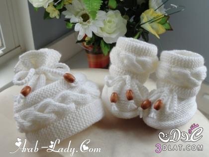 [صور] قبعات وأحذية الكروشية للأطفال