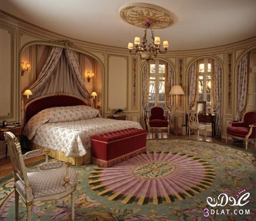 غرف نوم ملكية ديكورات غرف نوم كلاسيكية انيقة   روزة
