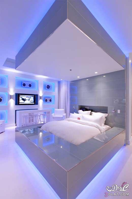 غرف نوم امريكيه باللون الازرق 2018 غرف نوم زوجيه جديده غرف نوم