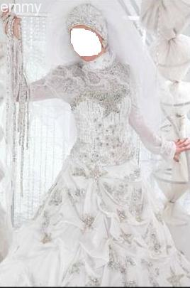 فساتين زفاف للمحجبات 2014 ادخلى