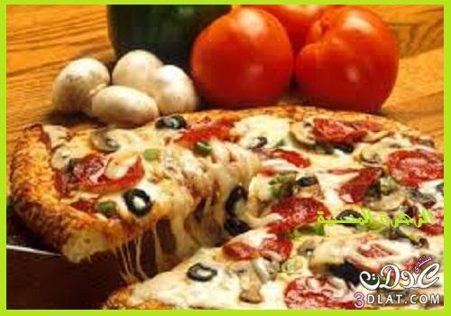 طريقة البيتزا الايطالية طريقة بيتزا