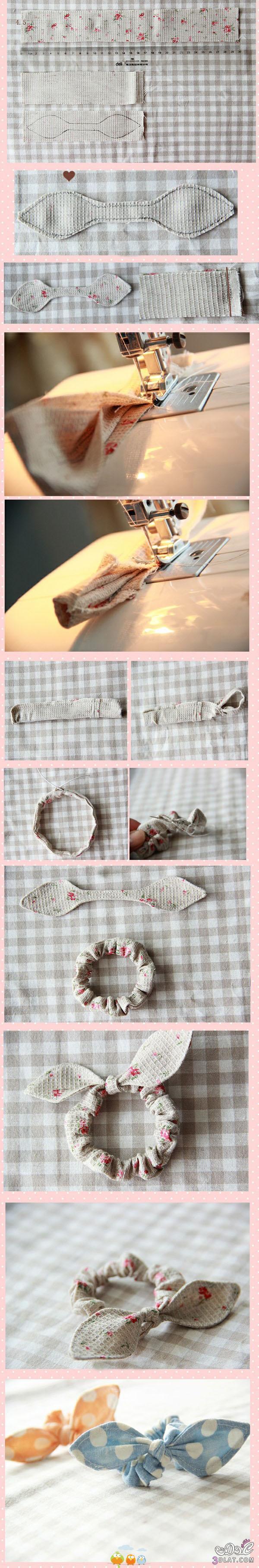 [صور] توك شعر يدوية,طريقة عمل فيونكات بالشرائط لتزين الشعر والملابس2014 3dlat.com_1398460446