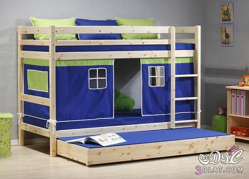 غرف نوم أطفال دورين تناسب جميع المساحات , غرفة نوم أطفال دورين