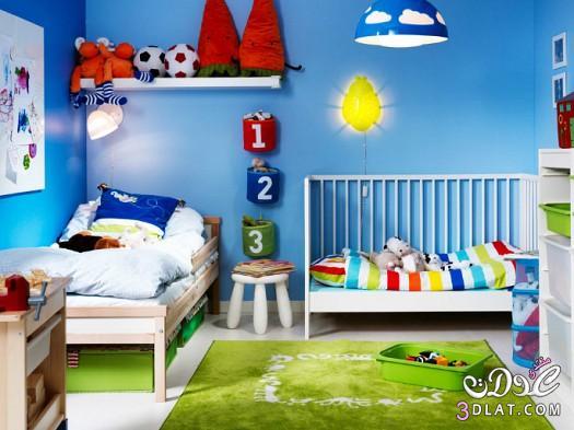 غرف نوم أطفال ايكيا , غرفة أطفال ايكيا 2018 بدرجات الوردي والأصفر