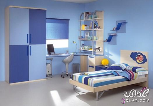 غرف نوم أولاد أزرق , غرف أطفال باللون الأزرق   سارة سرسور