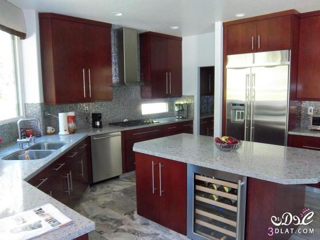 3dlat.com 13993060464 تصميم مطبخ عصري حديث بألوان مودرن
