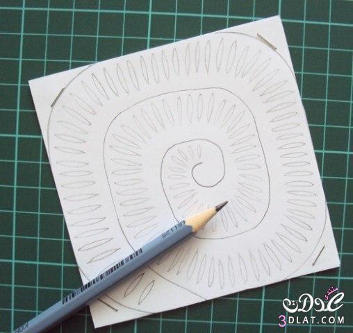 لوحة فنية ورود من الورق من صنع يدك للزينة 3dlat.com_1399414359