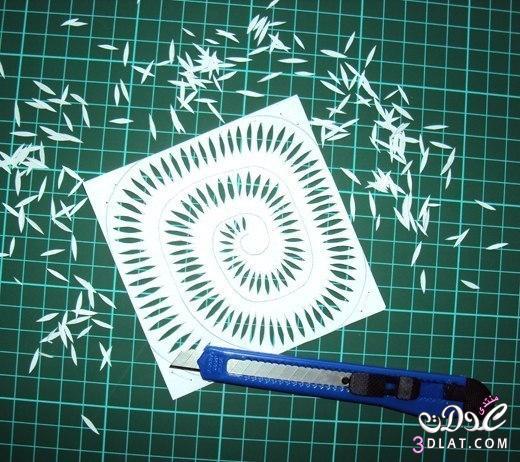 لوحة فنية ورود من الورق من صنع يدك للزينة 3dlat.com_1399414360