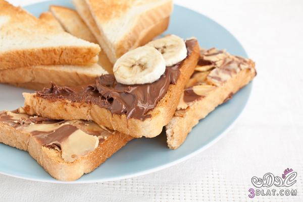 ساندويتش الموز والنوتيلا وجبة سريعة 3dlat.com_1399944663