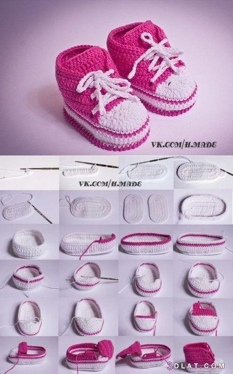 أحذية, بسهولة, حذاء, كبيرة, كروشيه, لطفلك, للأطفال