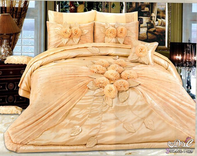 مفارش غرف نوم عرايس مفارش بألوان عصرية وأشكال مختلفة   آلاء فؤاد
