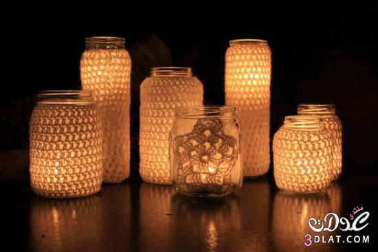 افكار جميله لتزيين الشموع بالدانتيل,زينى شموعك بالدانتيل,افكار لتزيين المنزل بال 3dlat.com_1400529926
