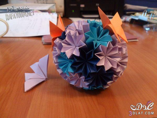 [���] ����� ��� ����� ������ Amazing Paper Butterfly Tutorial 3dlat.com_1400747793