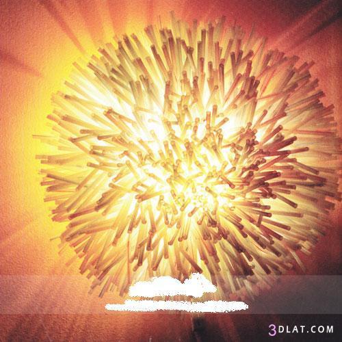 اصنعي بنفسكِ مصباح كهربائي من أعواد المشروبات  ,طريقة عمل مصباح كهربائي 3dlat.com_1400981151