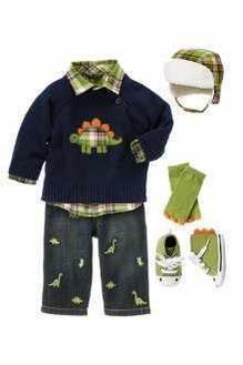 ملابس شتوية جميلة للأولاد الصغار