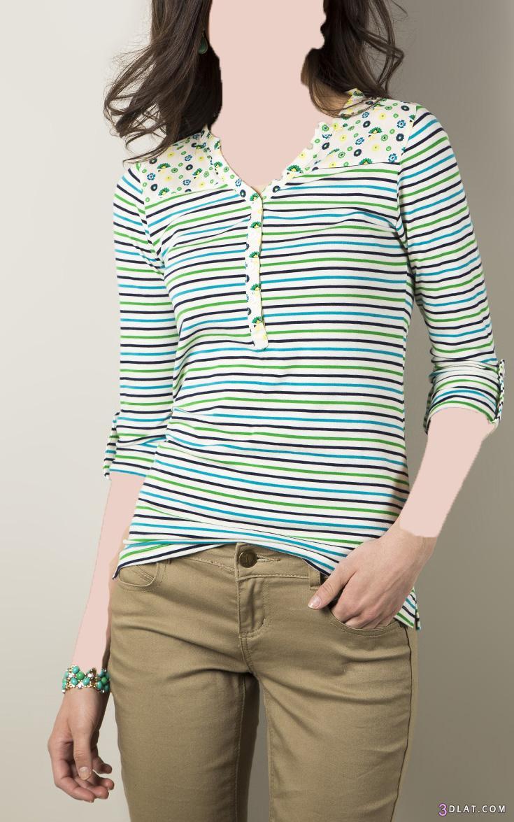 بلوزات فساتين صيفية بالوان مشرقة 3dlat.com_1403101261
