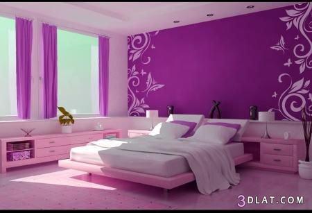غرف نوم باللون الموف   عشاق الموف   اوض نوم بنفسجى   جميع درجات