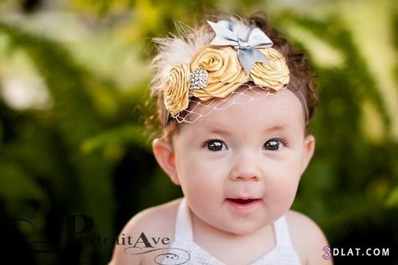 [صور] بندانه للاطفال بالورود والستان2014,توك شعر ,صور اطفال  كيوت,اشغال يدوية 3dlat.com_1403223287