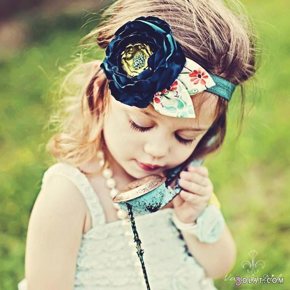 [صور] بندانه للاطفال بالورود والستان2014,توك شعر ,صور اطفال  كيوت,اشغال يدوية 3dlat.com_1403223288