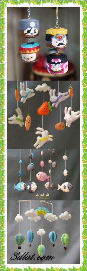 [صور] كيف نصنع علاقات جميله لغرف ألأطفال ,طريقه عمل علاقات من الحيوانات بقماش اللباد 3dlat.com_1409036192