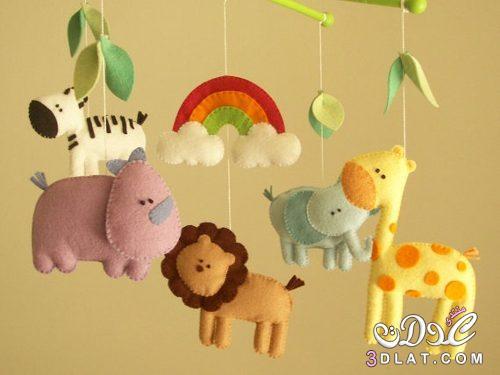 [صور] كيف نصنع علاقات جميله لغرف ألأطفال ,طريقه عمل علاقات من الحيوانات بقماش اللباد 3dlat.com_1409037086