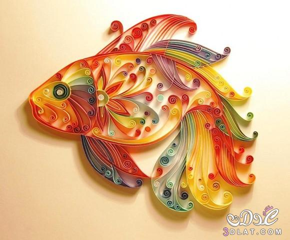 فى امان الله رسومات جميلة بالورق الملون اعمال يدوية رائعة