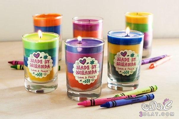 [صور] طريقة لعمل اكواب الشموع الملونة بالصور شموع ملونة للزينة بطريقة بسيطة وجميلة با 3dlat.com_1414176048