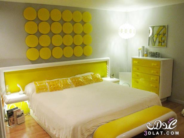 اللون الأصفر في ديكور غرفة نومك, جمال اللون الاصفر فى غرف النوم , افكار لغرف النوم 3dlat.com_1416569943