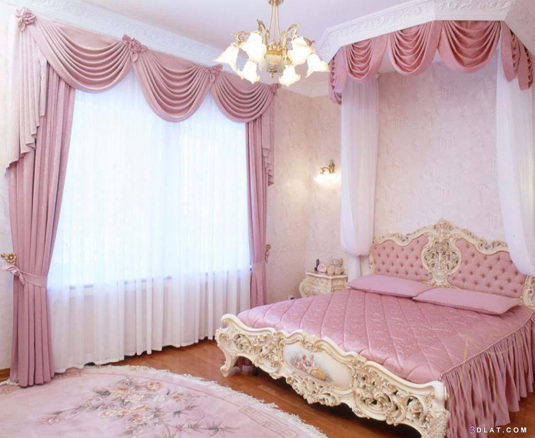 غرف نوم بألوان جذابة ورائعة ،ديكورات غرف نوم باللون الوردي
