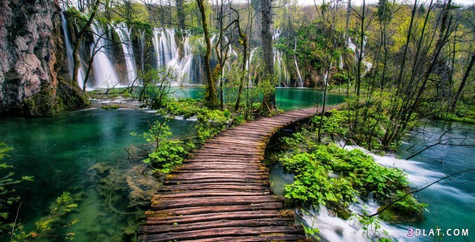 الطبيعه الخضراء شلالات طبيعية خلفيات الطبيعه 3dlat.com_17_18_6638