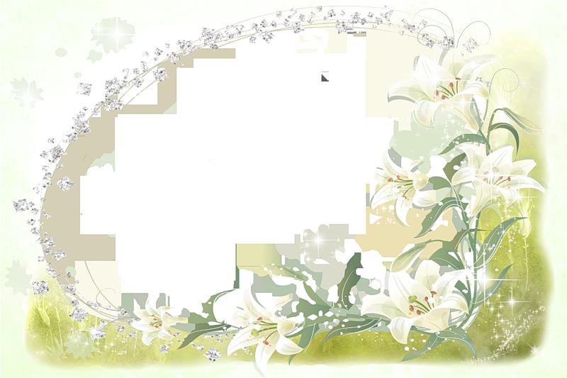 Открытки для фотошопа с белыми цветами