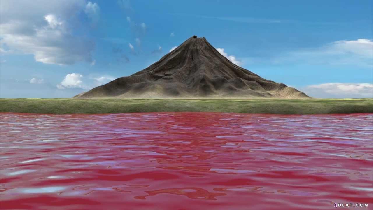 الحمراء, الحيرة, الدماء, الغرائب, بحيرة, بلون, تنزانيا،, جعل, سبب