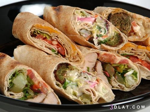 شاورما الدجاج بالخبز العربي طريقه تحضير 3dlat.com_20_18_79b1