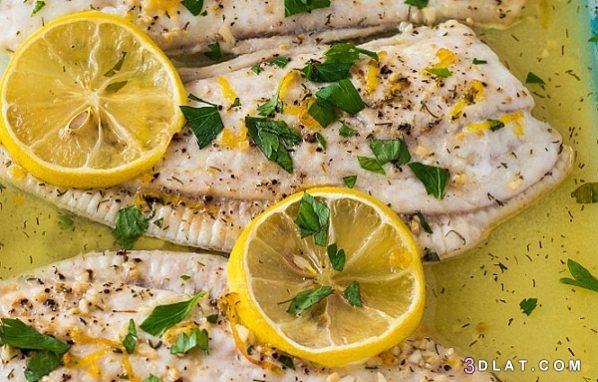 طريقة السمك البلطى بالزيت والليمون السمك 3dlat.com_21_18_b1ea