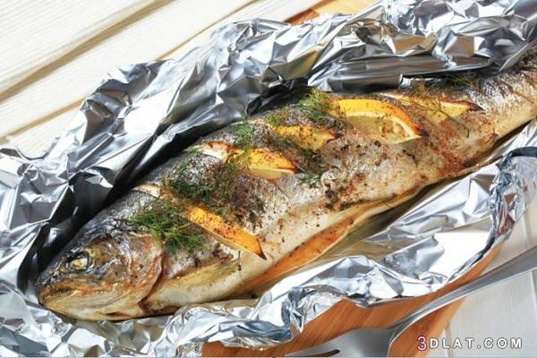 طريقة السمك البوري بالزيت والليمون السمك 3dlat.com_21_18_b1ea