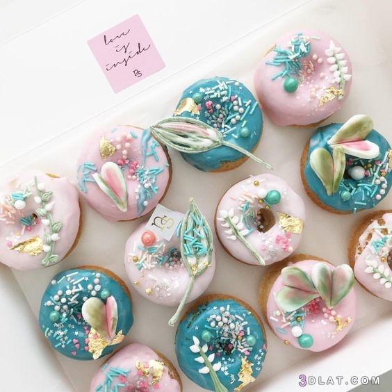 اكلير, الحلويات2019, بالوان, دونات, صور, مبهجة, مزين