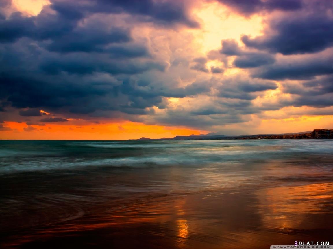 للطبيعة الخلابة وسماء ورمال وشجر وورود، 3dlat.com_25_18_2770