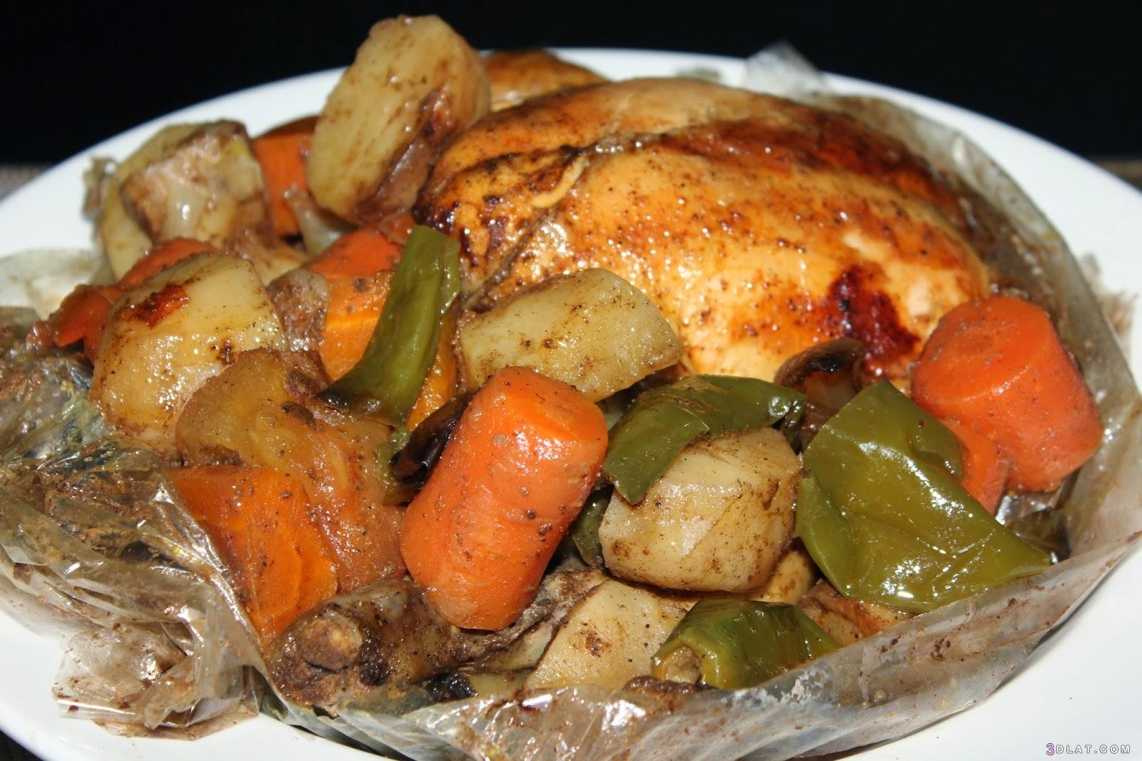 الدجاج, بالخضراوات،, بالخضروات, دجاج