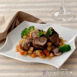 البطاطا, البقر, التايلندية., الحلوة, الطريقة, المتبّل, لحم, مع, يخنة