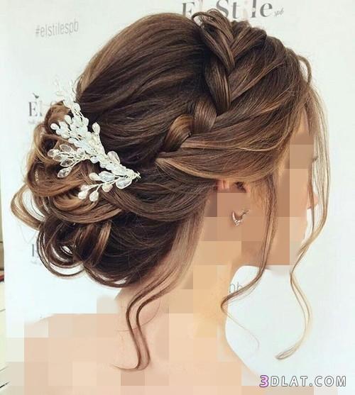 تسريحات للعروس للسهرات المناسبات تسريحات طويل 3dlat.com_28_18_dafa