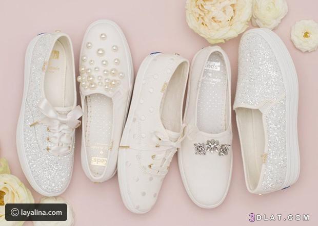 أحذية سنيكرز بيضاء مرصعة تتماشى العروس 3dlat.com_29_18_7ab6