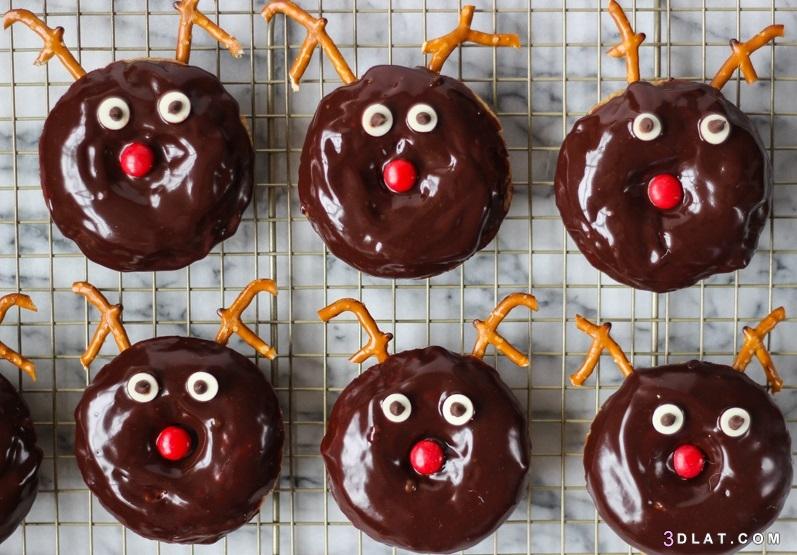 طريقة دونات بالشوكولاتة طريقة تحضير الدونات 3dlat.com_30_18_7248