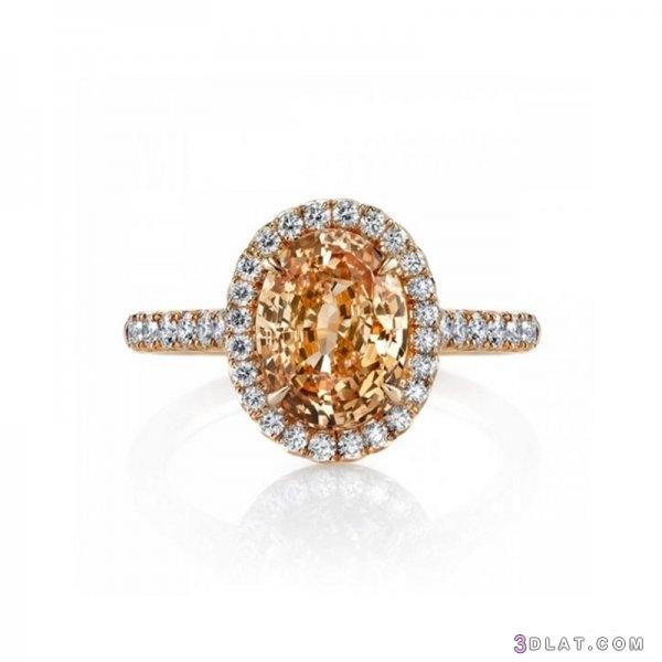 اشكال خواتم زواج بأحجار ملونة لعروس 3dlat.com_30_19_0075
