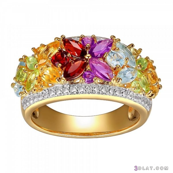 اشكال خواتم زواج بأحجار ملونة لعروس 3dlat.com_30_19_2843
