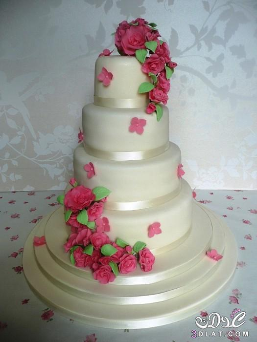 تورتات افراح 2016 كيكات زفاف مزينه بالورود تورتات فخمه للافراح 2016 2016
