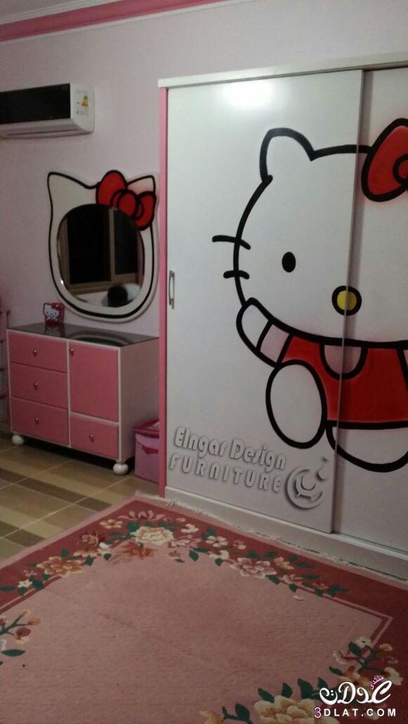 صور غرفة اطفال هالو كيتي 2020 للاموره ملك النجار ديزاين