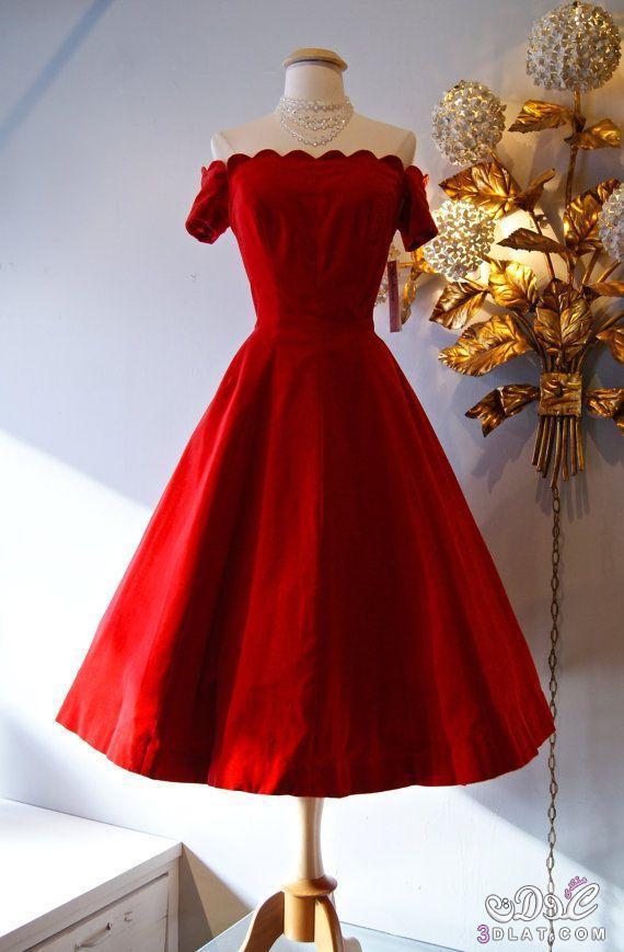 6d950434a2239 فساتين سهرة حمراء فساتين قصيرة حمراء فساتين دانتيل حمراء - warqaa